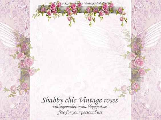 Free blog background: Shabby chic Vintage roses