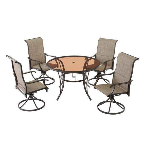 Una Sedia, Senza Tavoli YSGLIFE 1pz Slant Lattice Chair Necessita di Montaggio Sedia in Alluminio Pressofuso Outdoor Garden Patio Furniture Set Bistrot
