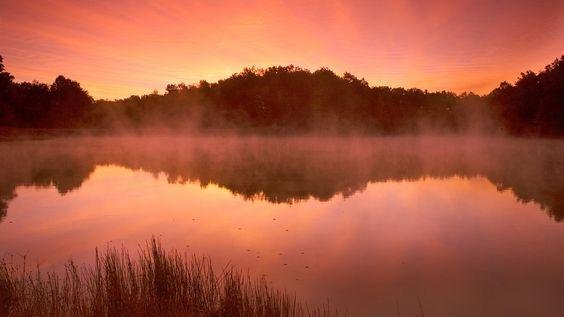 Orange Lake at sunrise