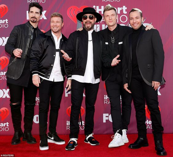 They're back! The Backstreet Boys will be performing later in the evening...