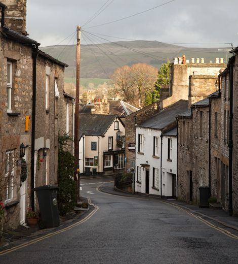 A village street in Hartley-by-the-Sea: