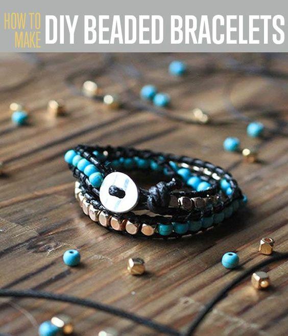 Cool DIY Beaded Bracelet Tutorial | Fun Ways To Make A DIY Beaded Bracelet! Quick & Easy Handmade Jewelry Ideas - Grab Yours Now! By DIY Ready. http://diyready.com/diy-beaded-bracelets/