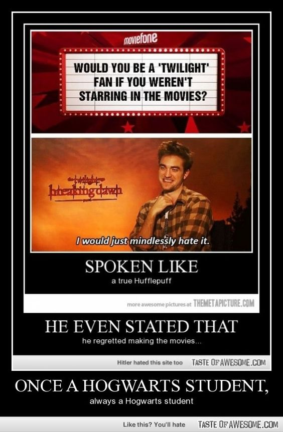 I usually hate everything to do with Twilight, but I absolutely LOVE the fact the fact that Pattison does, too!!!!!