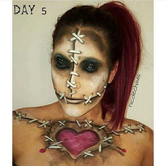 Voodoo doll makeup, Doll makeup and Voodoo dolls on Pinterest