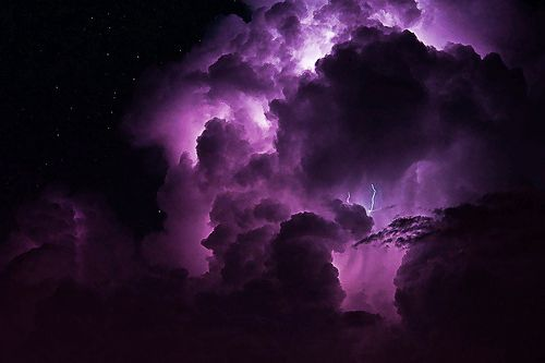 PURPLE STORM CLOUDS, LIGHTNING, & STARS: Clouds Storms ️ ️, Things Clouds, Pretty Purple, Storms Clouds, Art And Photos, Amazing Clouds, Clouds Lightning