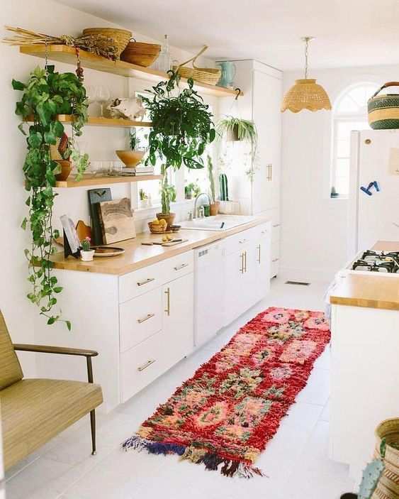 21 Bohemian Kitchen Design Ideas Decoholic Kitchen Interior Interior Design Kitchen Small Kitchen
