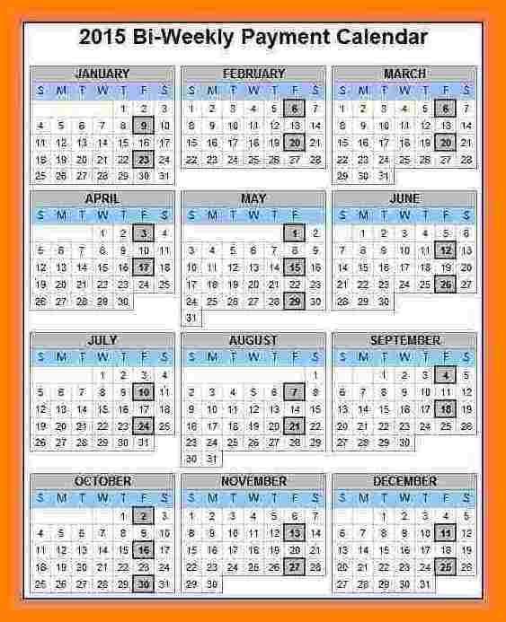 5 Bi Weekly Payroll Calendar Sles Of Paystubs Payroll Calendar