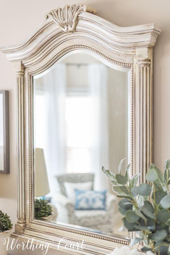 Before And After Budget Bedroom Makeover Reveal Budget Bedroom Makeover Painted Mirror Diy Mirrored Bedroom Furniture