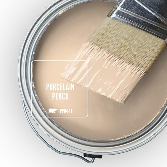 Behr Premium Plus 1 Gal Ppu4 11 Porcelain Peach Semi Gloss Enamel Low Odor Interior Paint And Primer In One 305001 The Home Depot In 2020 Interior Paint Exterior Paint Paint Colors