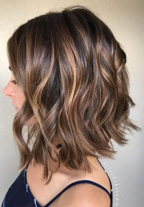 Short Hair Highlights Hair Color Ideas For Short Hair 2020 Fall Hair Color For Brunettes Hair Styles Long Bob Haircuts