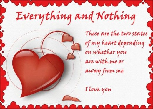 valentine day message card