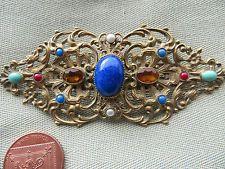 огромный старинный винтажный стиль арт деко чешский преобразованы пряжка брошь