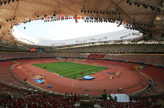 """""""Ninho do Pássaro"""".   """"Estádio Nacional de Pequim"""". # Pequim (Beijing), China."""