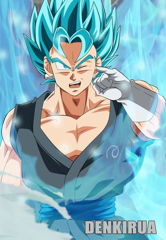 vegetto SSJ GOD BLUE by PiPeSnOw