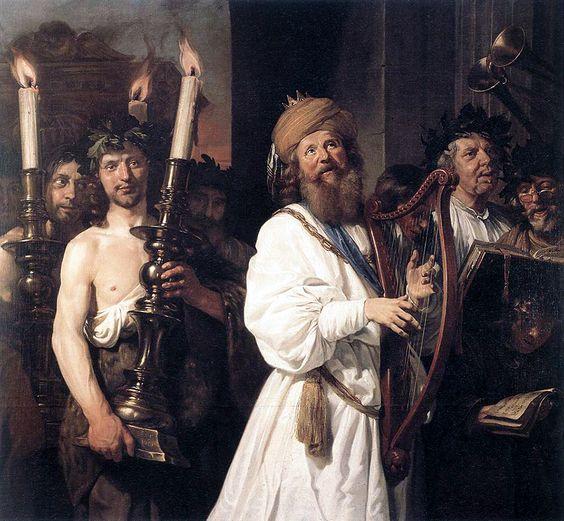 Jan de Bray (Dutch, 1627-1697). David Playing the Harp, 1670: