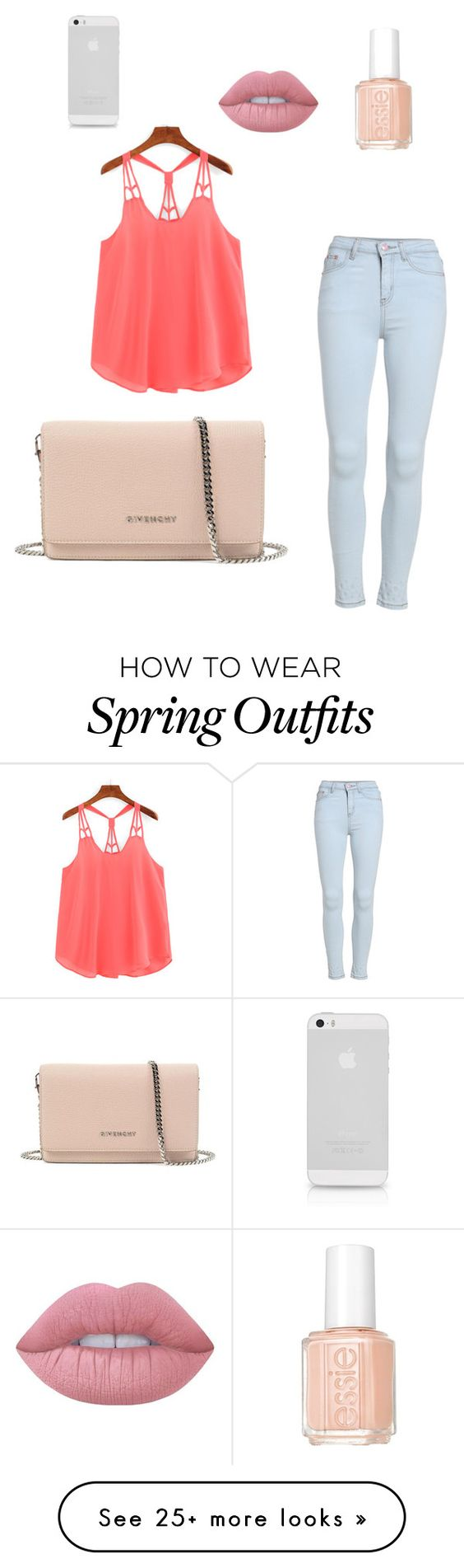 """""""Outfit"""" by barbarafranz on Polyvore featuring Lime Crime, Essie and Givenchy"""