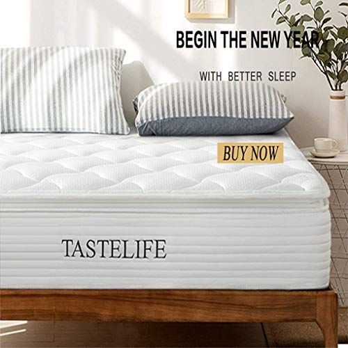 New Tastelife 12 Inch King Hybrid Mattress Pocket Spring Hybrid Mattress Certipur Us Certified Foam More Pre In 2020 Mattress Innerspring Mattresses Hybrid Mattress