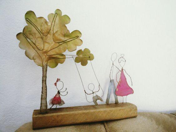 Escultura em arame  #família