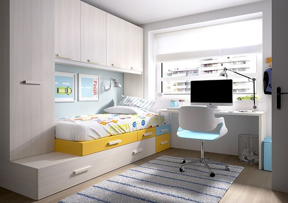 Los mejores muebles para dormitorios infantiles y - Dormitorios juveniles pequenos ...