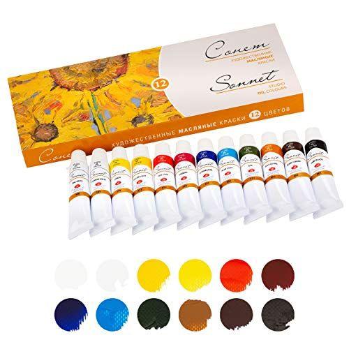 Sonnet Artistic Olfarben Set Hochwertige 12x10ml Ol Farben Ol
