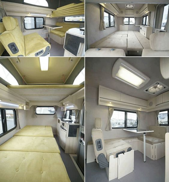 Inside A Japanese Kei Camping Car Notice The Chair That