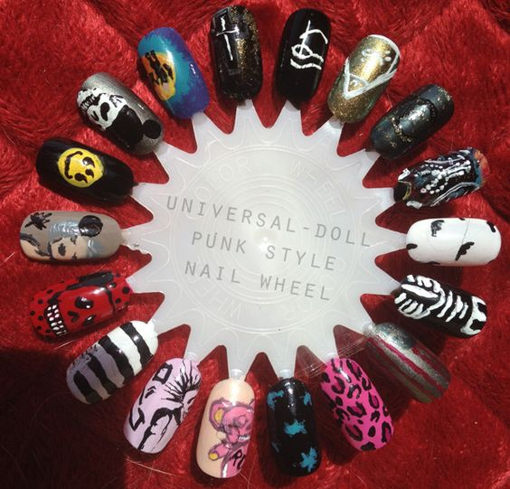 nails inspired by punk music - Google Search