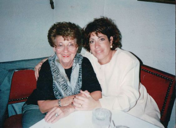 Sheila G., pictured with her mom, the 1st year she began her brownie business.