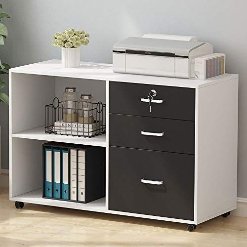 Tribesigns 3 Drawer Wood File Cabinets With Lock Large M Https Smile Amazon Com Dp B081j3wvj4 Ref Cm S Filing Cabinet Printer Storage Home Office Storage