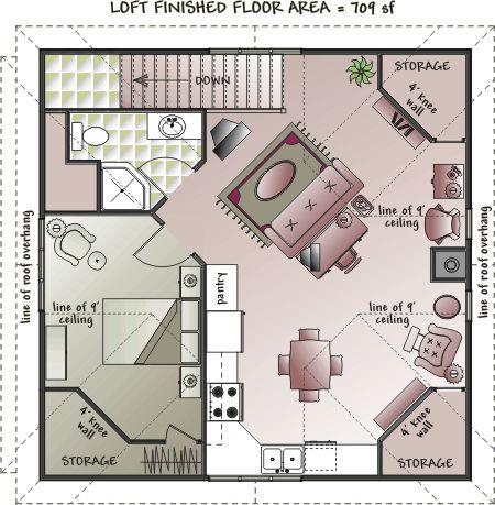 Garage Apartment Floor Plans - Bing Images | Guest House .