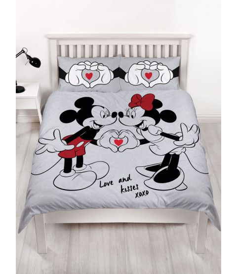 Mickey And Minnie Mouse Love Double Duvet Cover Set Mickey Mouse Bedding Minnie Mouse Bedding Duvet Cover Sets