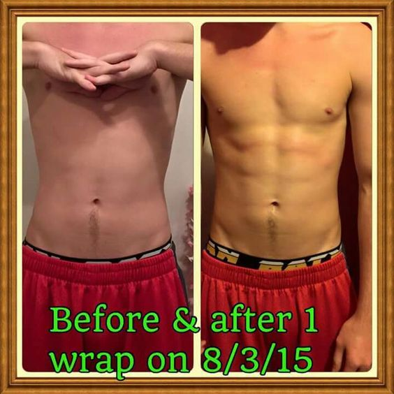 Just ONE wrap & see what great results he got!!!! Order your wraps today... message me for more info