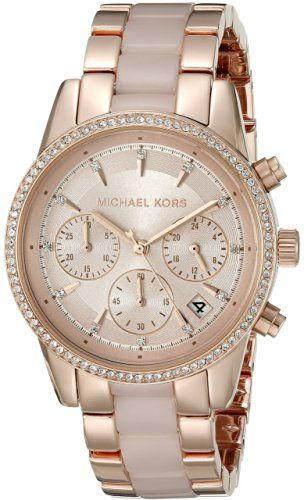Precio: EUR 154,01 Precio final del producto Michael Kors MK6307 - Reloj de cuarzo con correa de acero inoxidable para mujer, color rosa