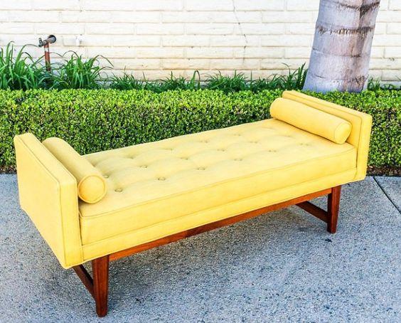 """Mid Century Modern Tufted Bench"" http://goo.gl/pFXbCz"
