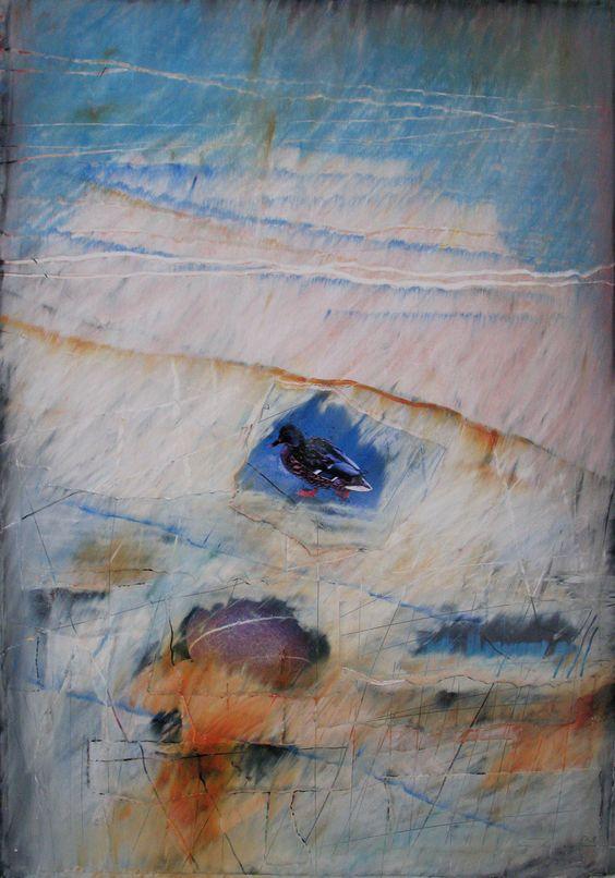 Åse Margrethe Hansen/Chill. Mixed media on silkboard, 2009