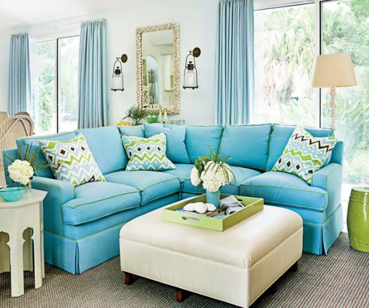 Blue Sofa Decor Ideas Shop The Look In 2020 Beach House Living Room Furniture Blue Sofa Decor Coastal Decorating Living Room