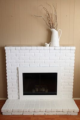 Yellow Bliss Road: Painted Brick Fireplace