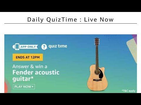 Amazon Quiz 4 July 2020 Win Fender Guitar Quiz Playing Guitar Fender Guitar