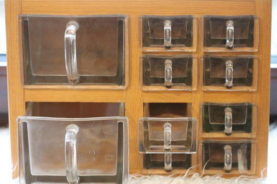 glas sch tten regal 10 sch tten massiv holz von mitheis kitchencorner pinterest. Black Bedroom Furniture Sets. Home Design Ideas
