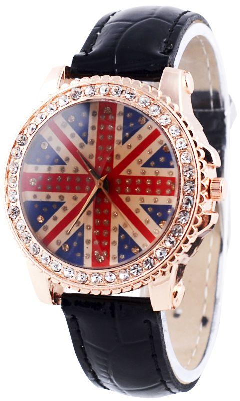 UK Flag Watch $6.29 #montresfantaisies, #montresfemme, #bijoux, #bijouxfantaisiefemme