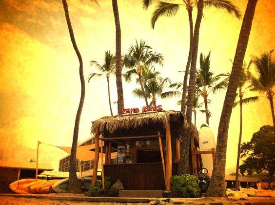 Great shot of the Kona Boys shack at the King Kam!