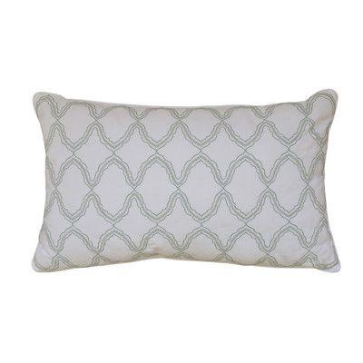 Nostalgia Home Arch Sea Cotton Lumbar Pillow