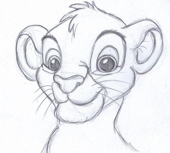 disney sketch - simba, the lion king