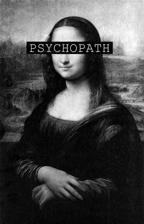 Mona Lisa as a psychopath, pop art.