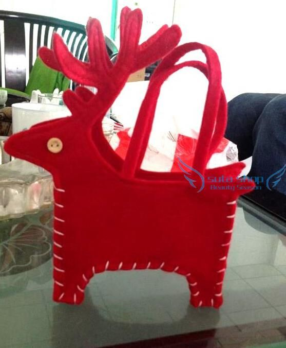 2015 Christmas Decoration natal navidad Santa Claus Reindeer candy bag small Gift bag enfeites de natal