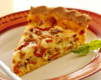 Spicy Italian Sausage Pie with Wisconsin Mozzarella Cheese, from EatWisconsinCheese.com. Looks like a good breakfast dish.