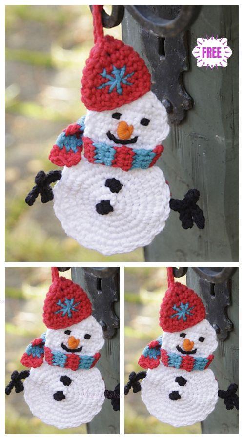 Crochet Flat Snowman Free Crochet Patterns Crochet Christmas Ornaments Free Christmas Crochet Patterns Crochet Xmas