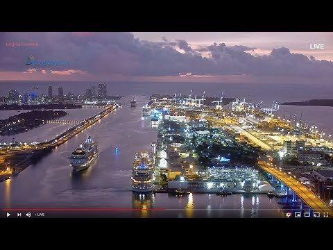 Live Port Of Miami Cam In 2020 Port Area Cruise Ship Cruise