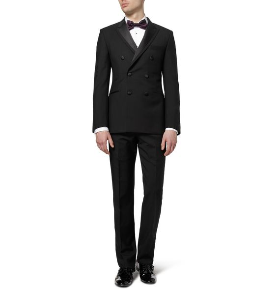 PAUL SMITH LONDON    THE ABBEY WOOL AND MOHAIR-BLEND TUXEDO SUIT
