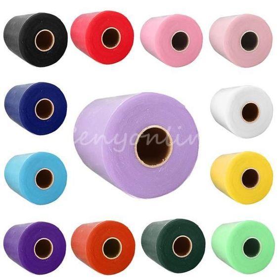 """Soft 6""""x100yd Tulle Roll Spool Wedding Craft Bridal Wrap Party Decor 6""""x300' New"""