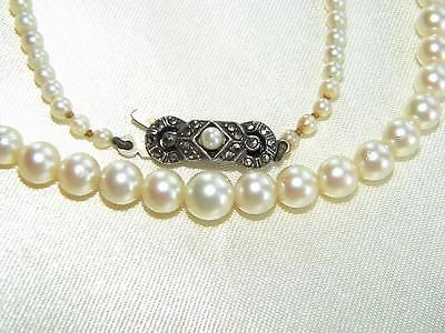 Art deco #cultured pearls #necklace silver #marcasites clasp ~ beautiful old ~,  View more on the LINK: 	http://www.zeppy.io/product/gb/2/201471697071/